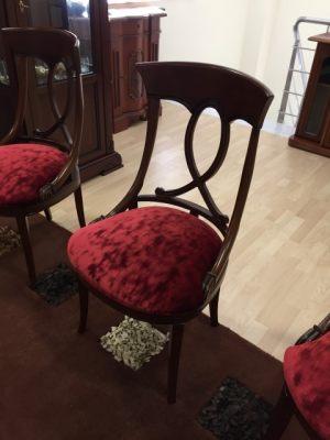 """6 Καρέκλες νεοκλασικές Από <strike>2220€</strike>&nbsp;<font color=""""red"""">1400€</font>"""